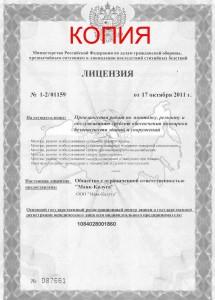 Лицензия Маяк- 1ст копия